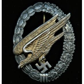 "Luftwaffe paratrooper badge by Berg & Nolte ""B&NL"""