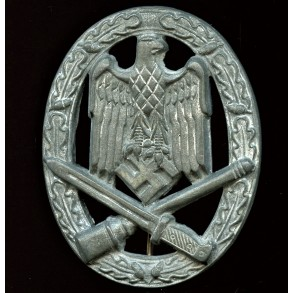 """General Assault Badge in silver by Hymmen & Co """"L/53"""""""