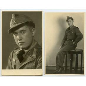2 portrait photos in tropical uniform