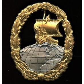 1957 Kriegsmarine Auxiliary crsuier badge by Steinhauer & Lück