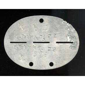 ID tag Bau Komp. 79 aluminum