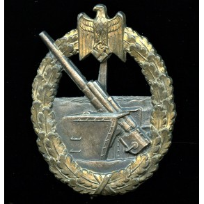 Kriegsmarine coastal artillery badge by Schwerin Berlin