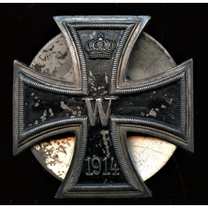 1914 Iron cross 1st class by Otto Schickle, screwback variant