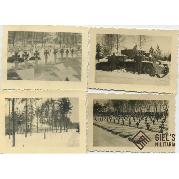 Photo lot Minsk 1942, panzers, equipment,...