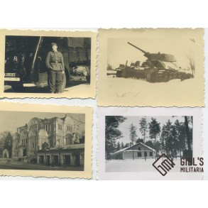 Photo lot Minsk 1942, panzers, equipment,...