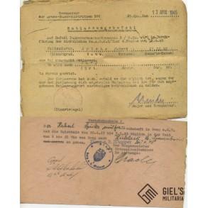 Wehrpass + Kenkarte H. Spirks, Volkssturmwehrmacht