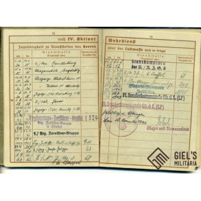 WEHRPASS TO F. GIEHL, MESSERSCHMITT BF 109/110, SPANISH CROSS IN GOLD, ESCAPED POW AND NIGHT FIGHTER! SPAIN, POLAND, DENMARK