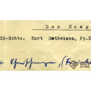 Small group to SS Oberschützen K. Matheisen, Holland!