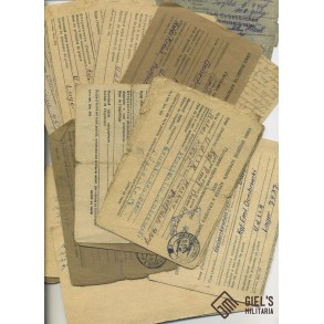 "Communication letters ""von Dombrowski"", Russian POW camp."