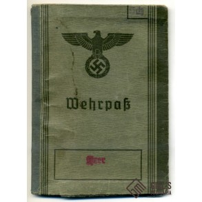 Wehrpass to A. Scheüringer, wounded in France 1940, Pz. Abwehr