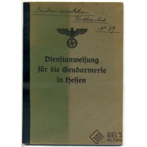 """Polizei training booklet """"Dienstanweisung für die Gendarmerie in Hessen"""""""