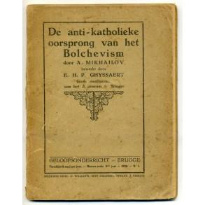 """Pre war Flemish movement lecture: """"De anti-katholieke oorsprong van het Bochevism"""" 1930"""