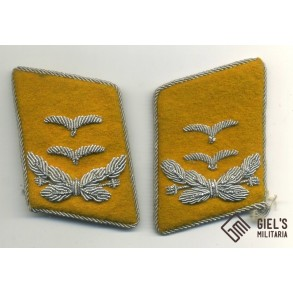 Luftwaffe collar tabs for Oberleutnant, flying personal