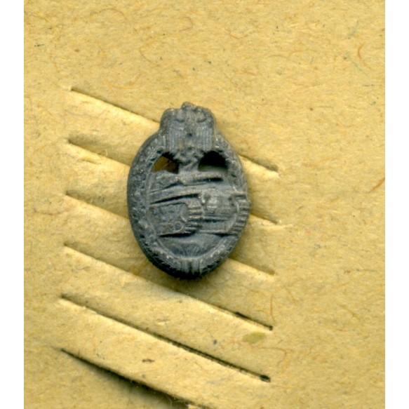 Panzer Assault Badge in silver 9mm miniature by Steinhauer & Lück on LDO cardboard