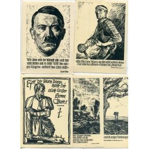 Series of DRK/WHW NSDAP postcards