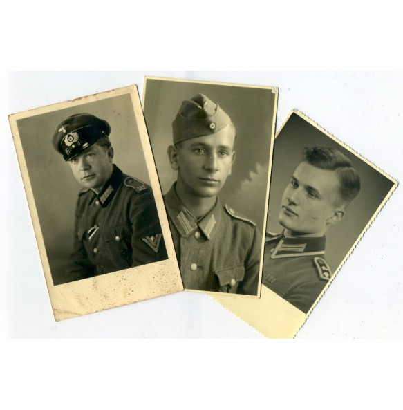 3 portrait photos, NCO, decorations,...
