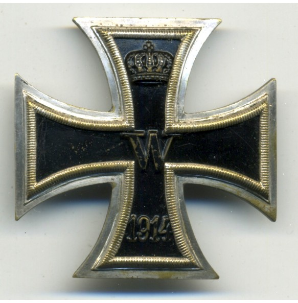 WW1 Iron Cross 1st class by W. Deumer, messing core schinkel!