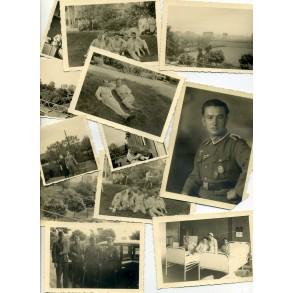 """Private snapshots + portrait """"Lazarett Rastpfuhl"""" 1942"""
