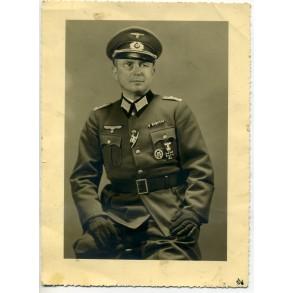 Portrait photo Hauptmann with factory EK1 combo clasp