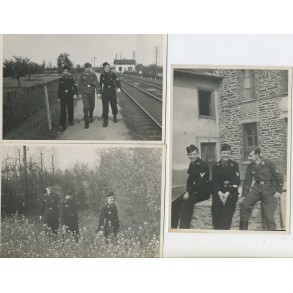 3 black wrapper panzer photos, area around Paris 1940-41