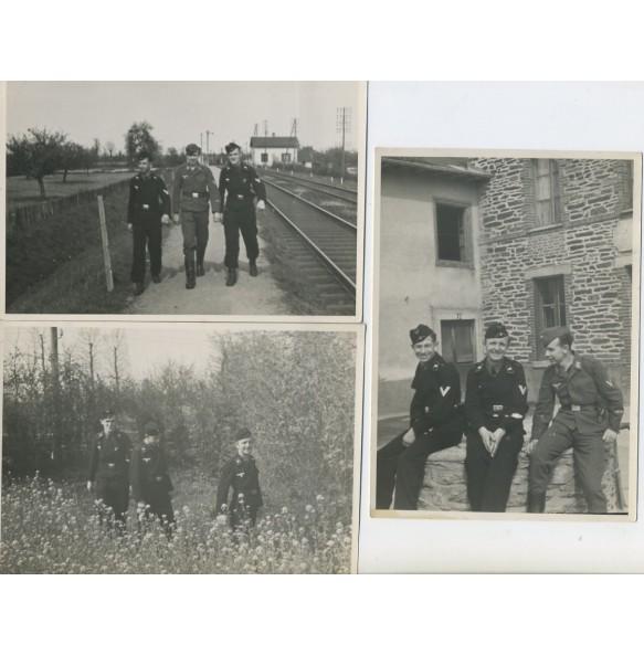 3 black wrapper panzer photos, area around Paris 1940-41