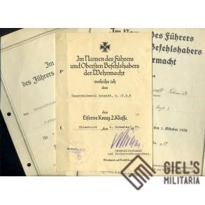 Small grouping to Hauptfeldwebel Schmid, IR6, EK2 1939!!!